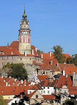 The Castle Tower and Little Castle in Český Krumlov, foto: Lubor Mrázek