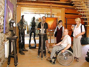 The International Art Studio: A visit to 'Na Fortně' Art Studio in Český Krumlov, foto: Lubor Mrázek