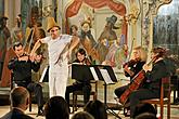 Mucha Quartet and musical mime Vladimír Kulíšek - Chamber concert, 30.7.2015, International Music Festival Český Krumlov, source: Auviex s.r.o., photo by: Libor Sváček