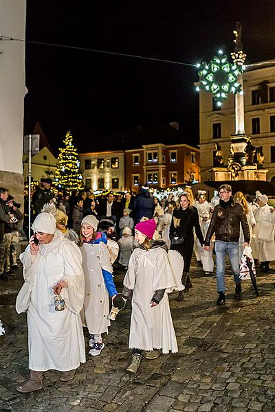 Angelic Procession Through Town Český Krumlov 7.12.2018