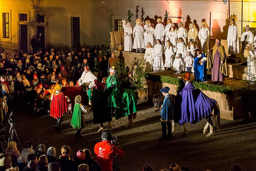 Live Nativity Scene, 23.12.2018, Advent and Christmas in Český Krumlov