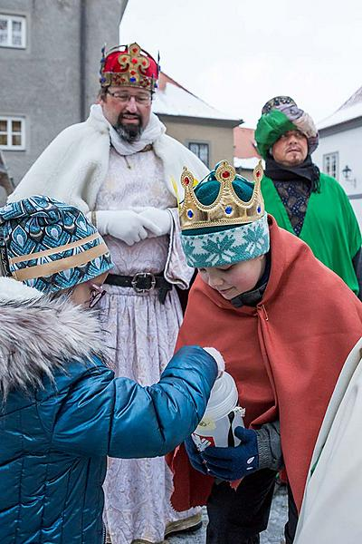 Three Kings, 6.1.2019, Advent and Christmas in Český Krumlov