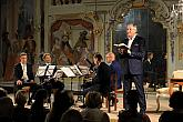 Evening of French poetry and music, Jan Čenský (artistic recitation), Prague Philharmonia Wind Quintet, 23.7.2019, International Music Festival Český Krumlov, photo by: Libor Sváček
