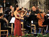Sanghee Cheong (violin), Stefan Kropfitsch (violoncello), Thüringen Philharmonie, 9.8.2019, International Music Festival Český Krumlov, photo by: Libor Sváček