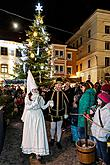 Baby Jesus Postal Office at U Zlatého Anděla and arrival of the White Lady in Český Krumlov 8.12.2019, photo by: Lubor Mrázek