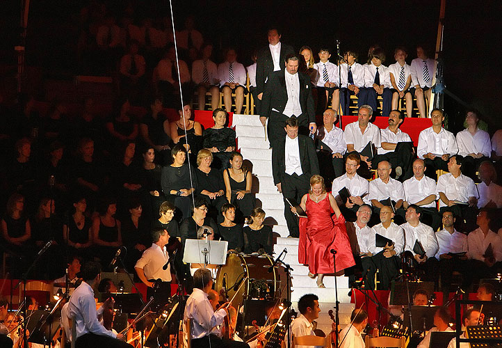 Carl Orff: Carmina Burana, Castle South Terrace, 20.7.2007, International Music Festival Český Krumlov, source: © Auviex s.r.o., photo: Libor Sváček