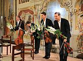 Bennewitz Quartet - Jakub Fišer - 1st violin, Štěpán Ježek - 2nd violin, Jiří Pinkas - viola, Štěpán Doležal - violoncello, Masquerade Hall, International Music Festival Český Krumlov 22.9.2020, source: Auviex s.r.o., photo by: Libor Sváček