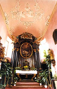 Church of St. Vitus in Český Krumlov, interior of chapel of St. Jan Nepomuk from 1725